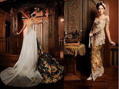 Kebaya Wedding Dress Styles, Wedding Gowns, Indonesian Kebaya, Kebaya Wedding, Kebaya Lace, Batik Dress, Layered Tops, Traditional Dresses, Wedding Bells