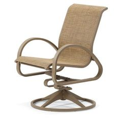 Telescope Casual Aruba II Swivel Rocking Chair (Set of 2) Fabric: Titanium, Finish: Textured Aged Bronze