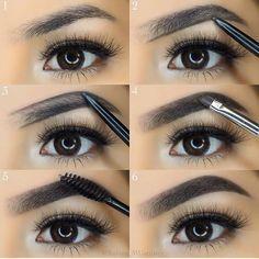 10 fotos de como maquiar a sobrancelha. Clique e veja mais.