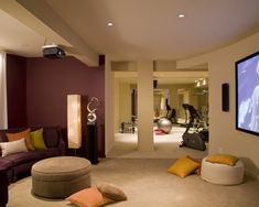 Perfect Mom workout room, just baby proof the TV room. Basement Design, Pictures, Remodel, Decor and Ideas - page 32