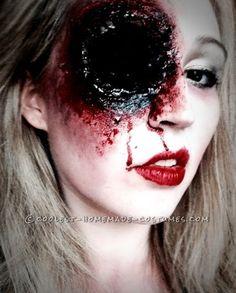 For this Shotgun Sally costume and Makeup you'll need: Black Nylon spirit gum Eyelash Glue Liquid Latex Ben Nye Nose and scar wax Ben Ny...