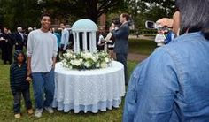 Carolina Catering created this Old Well cake that was on display at the reception following the installation of Carol Folt as the 11th chancellor at UNC-Chapel Hill.