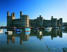 Caernarfon Castle. Beautiful Wales
