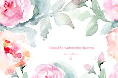 Big watercolor floral collection by WatercolorArt on @creativemarket