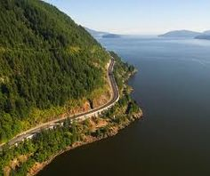 British Columbia Highway 99  (aka the Sea to Sky Highway, the Squamish Highway, Route 99, or Whistler Highway),  63-mile northern section of Highway 99 which connects Vancouver and Whistler. #Roads