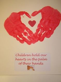handprint heart, this blog has cute Valentine's Day crafts too.