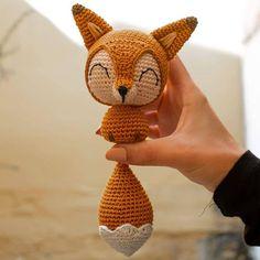 """DK Tejer patrón para Fox Animales de Juguete 9.5/"""" en altura"""