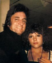 Rosanne Cash and her father, Johnny Cash, in 1976.