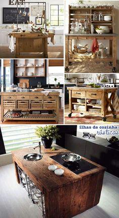As ilhas de cozinha deixam o espaço mais prático e são decorativas.