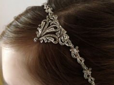 Vintage Bridal hair accessory / Etherial Bridal Hairband. Marcasite Hair Accessory.. £85.00, via Etsy.