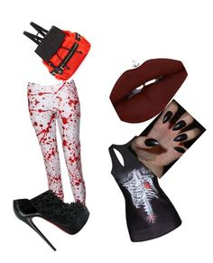 """Halloween"" by ladygagajess on Polyvore featuring Neiman Marcus and Christian Louboutin"