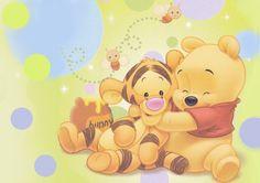 papel de parede ursinho pooh baby - Pesquisa Google