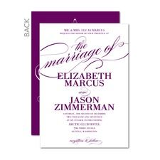 Modish Marriage Purple Wedding Invitations