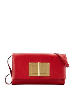 TOM FORD Natalia Soft Turn-Lock Clutch Bag