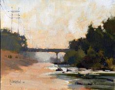 'LA River, Early Morning' by Jennifer McChristian Oil ~ 8 x 10