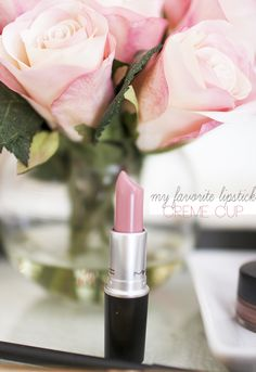Creme Cup MAC lipstick- I absolutely love this stuff!