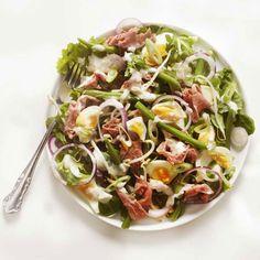 Boontjessalade met rosbief