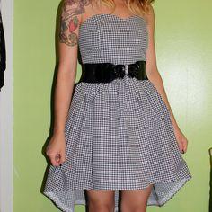 houndstooth sweetheart hi lo dress by SewOeno on Etsy, $52.00