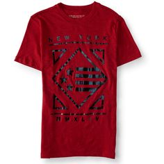 Aeropostale New York Diamond Flag Graphic T (12 CAD) ❤ liked on Polyvore featuring men's fashion, men's clothing, men's shirts, men's t-shirts, red sky, 7 diamonds mens shirts, aeropostale mens t shirts, mens graphic t shirts, aeropostale mens shirts and mens red shirt