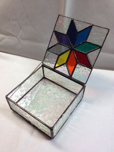 Contemporary Stained Glass Jewelry Box Colorful by PeaceLuvGlass