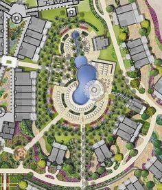 landscaping the garden on a budget - Architektur Urban Design Concept, Urban Design Plan, Plan Design, Design Ideas, Design Design, Landscape Design Plans, Landscape Architecture Design, Urban Landscape, Architecture Portfolio