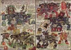 what an unbelievably inspirational piece by John Blanche. I wonder how many conversions were driven by this spread from the old 2nd Ed Codex: Chaos?