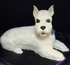 Picture of a dog shaped birthday cake_mini schnauzer dog cake.PNG  http://cakepicturegallery.com
