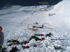 everest dead bodies map | Everest Deaths