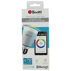 Illuminate your home with an incredible colour spectrum using the A19-E26 BeeWi Bluetooth Smart LED 7W colour bulb. With the included free SmartPad app and using your compatible smartphone, you can change the colour and intensity ... Free shipping on orders over $20.