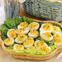 Bacon And Cheese Deviled Eggs Recipe from Family Circle