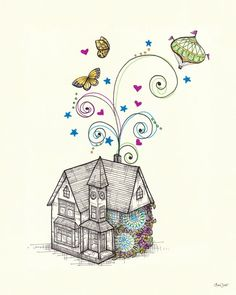 Fantasia Wall Decal by Lisa Chow - $20 & $39 (Free shipping thru 2/24)