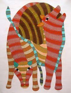 40 Simple And Easy Gond Painting Designs For Art Lovers - Free Jupiter Dot Art Painting, Madhubani Painting, Cave Painting, Acrylic Paintings, Tribal Art, Indian Animals, Animal Symbolism, Indian Folk Art, Dibujo