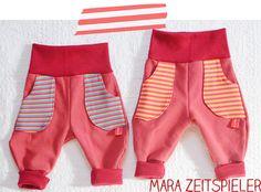 Kinderhosen aus Kissenbezug / Children's trousers made of pillowcase, by Mara Zeitspieler
