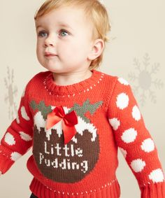 Little Pudding Christmas Jumper - adorable!
