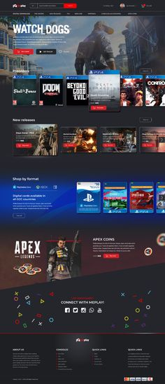 Check out ilyasE's new web page design from Design Web, Design Sites, Website Design Layout, Web Layout, Page Design, Layout Design, Game Ui Design, Blog Layout, Flat Design