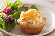 Make something small with big flavor in Easy Mini Chicken Pot Pies, baked until golden brown and delicious. Easy Mini Chicken Pot Pies will go over big. Easy Chicken Pot Pie, Chicken And Biscuits, How To Cook Chicken, Creamy Chicken, Muffins, Muffin Tin Recipes, Cream Cheese Spreads, Turkey Recipes, Chicken Recipes