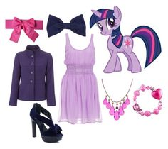 """""""Twilight Sparkle - Canterlot Gown"""" by catloverd ❤ liked on Polyvore featuring My Little Pony, American Apparel, 1928, Tarina Tarantino, John Lewis, mlp, my little pony and twilight sparkle"""