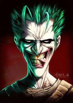 Joker_by_el_grimlock.jpg You can always find Great depictions of the Joker Joker Cartoon, Le Joker Batman, Joker Y Harley Quinn, Horror Cartoon, Joker Comic, Gotham Batman, Batman Robin, Comic Book Characters, Comic Character