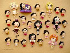FIMO - Burlesque Dolls by ~buzhandmade on deviantART