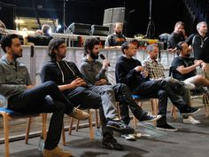 LINKIN PARK love Mike's little shoes!...and Chester is in mid swallow!
