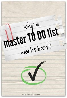 Instead of creating lots of smaller TO DO lists around your house, create one MASTER TO DO list that houses everything in an organised way. When you have time to spare, or a space in your diary, you can do the next thing on the list for the 1st priority project