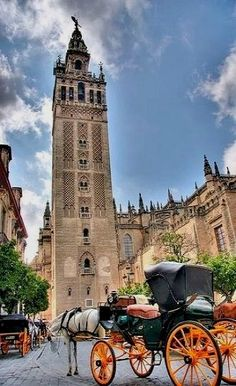 My dad was born in Seville, Spain.  This is one of the buildings there.