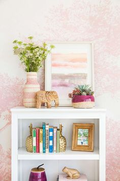 pink room details designed by Emily Henderson