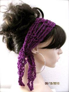 Adriana's favorite accessory hair scarf Crochet Gypsy by KEONA, $10.00 http://www.amazon.com/dp/B00EADYMCA