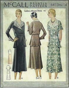 1920s McCall Ladies dress