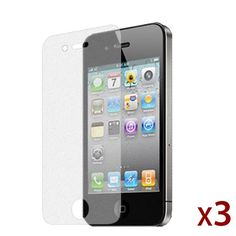 $0.01 iPhone 4 / 4S Diamond Finishing Screen Protector - 3 Pack