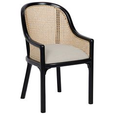 The Gaston Chair by Noir emphasizes natural, simple and classic design. Noir has been designing, building and importing a very unique, but ever growing collection of home furnishings for more than 10 years. Noir products are hand finished and create Black Dining Chairs, Dining Arm Chair, Upholstered Dining Chairs, Dining Room Chairs, Dining Furniture, Black Rattan Chair, Office Chairs, Black Armchair, Rattan Chairs