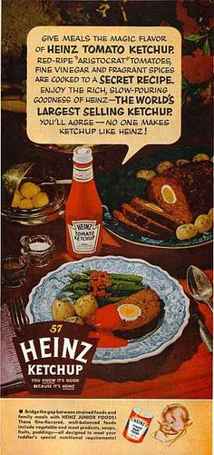 1954 Heinz Ketchup Ad