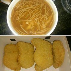 麵線焿和無骨雞塊