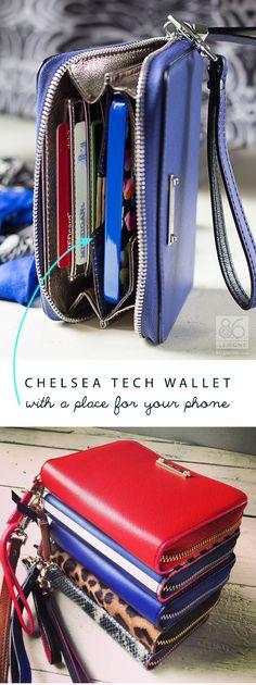 Chelsea tech wallet by Stella & Dot via @86lemons - #techwallet #smartwallet #geldbörse #clutch #stelladot #stelladotstyle #statement